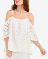 Vince Camuto Cold-Shoulder Lace Top