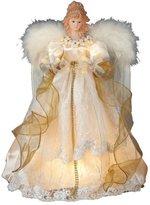 Kurt Adler 10-Light 16-1/2-Inch Ivory and Gold Angel Treetop