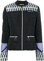 Versace colour-block padded jacket