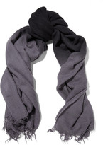 Chan Luu Ombré Cashmere And Silk-blend Scarf - Storm blue