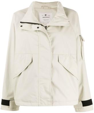 Woolrich Funnel-Neck Short Jacket