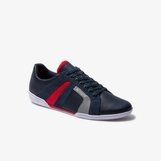 Lacoste Men's Chaymon Club Leather and Suede Sneakers