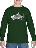 LOS ANGELES POP ART Los Angeles Pop Art Popular Species Of Shark Graphic T-Shirt-Big Kid Boys