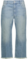 Etoile Isabel Marant Ploye Mid-Rise Cropped Distressed Straight-Leg Jeans