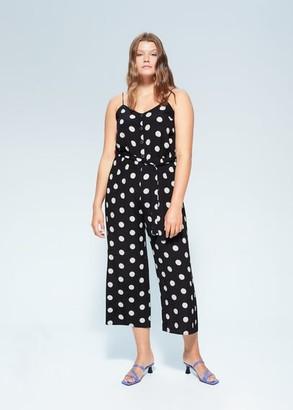 MANGO Polka-dot print jumpsuit