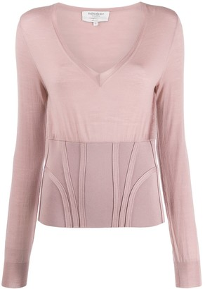Yves Saint Laurent Pre Owned Long Sleeve Knit Top
