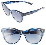 Valentino Women's 54Mm Cat Eye Sunglasses - Black