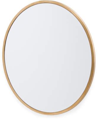 31in Round Brass Mirror