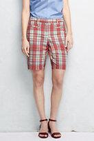 "Classic Women's Petite Mid Rise 10"" Chino Bermuda Shorts-Antique Beige"