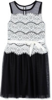 Amy Byer Lace Popover Dress, Big Girls (7-16)