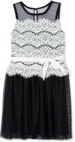 BCX Lace Popover Dress, Big Girls (7-16)