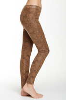 Hue Ultra Faux Suede Python Print Legging
