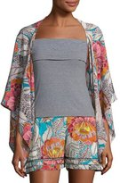 Trina Turk Exquisite Floral Silk Topper Jacket, Multicolor