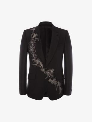 Alexander McQueen Floral Sash Jacquard Jacket