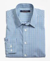 Brooks Brothers Non-Iron Mini Check Tattersall Sport Shirt