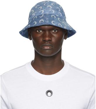 Marine Serre Blue Denim Bucket Hat