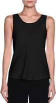 Giorgio Armani Silk Charmeuse Scoop-Neck Shell, Black