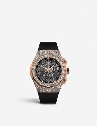 Hublot 525.OX.0180.RX.1704.ORL19 Classic Fusion Aerofusion Chronograph Orlinski 18ct King-gold and diamond watch