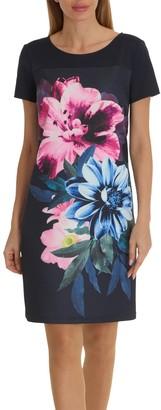 Betty Barclay Floral Print Jersey Dress, Dark Sky