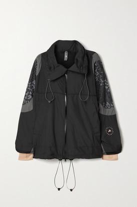 adidas by Stella McCartney Paneled Shell And Leopard-print Ripstop Jacket - Black
