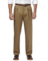 Haggar Premium No Iron Classic-Fit Pleated Khakis