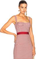 Brock Collection Taro Top in Red,Checkered & Plaid.