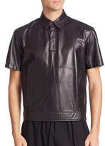 McQ by Alexander McQueen Lamb Leather Hero Shirt