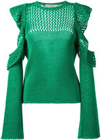 Philosophy Di Lorenzo Serafini - open knit detail jumper - women - Cotton - 40