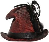 Möve Vintage Effect Straw Top Hat W/ Feathers