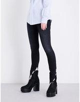 R 13 Kate angled-hem skinny high-rise jeans