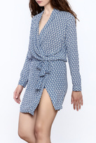 Olivaceous Geo Print Wrap Romper