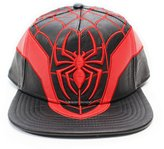 Bioworld Men's Marvel - Spiderman PU Leather Snapback Hat O/S