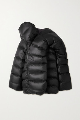 Moncler + Rick Owens Hikoville Oversized Quilted Shell Down Coat - Black