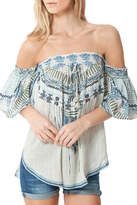 Hale Bob Janina Off The Shoulder Embroidered Tunic