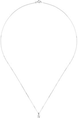 Love Diamond 9ct White Gold 15pt Diamond Solitaire Pendant Necklace