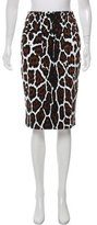 Samantha Sung Leopard Printed Pencil Skirt w/ Tags
