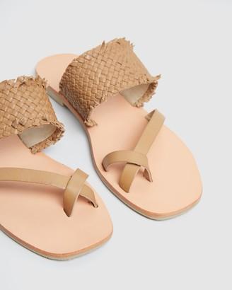 Nude Barker Leather Slides
