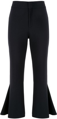 Portspure Fit And Flare Cropped Trousers