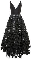 Oscar de la Renta Triangle Applique A-line Gown
