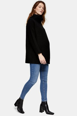 Topshop Womens **Maternity Mid Stone Over Bump Jamie Jeans - Mid Stone