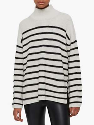 AllSaints Melody Merino Wool Blend Stripe Jumper