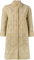 Ermanno Scervino broderie anglaise coat - women - Cotton - 44