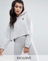 Puma Exclusive To ASOS Cropped Hoodie With Raw Hem And Side Splits