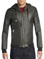 Dolce & Gabbana Quilted Hooded Nylon Jacket