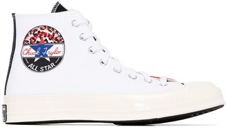 Converse White Chuck 70 canvas panelled high top sneakers