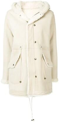 Mr & Mrs Italy fur-trim hooded coat