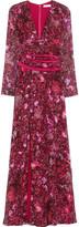 Matthew Williamson Printed silk-chiffon gown