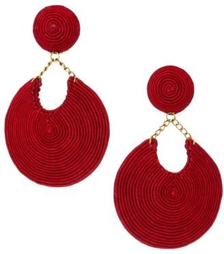 Rebecca De Ravenel La Parisienne 18K Goldplated & Silk-Blend Earrings