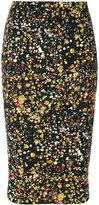 Victoria Beckham printed fitted skirt - women - Cotton/Polyamide/Polyester/Spandex/Elastane - 12