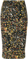 Victoria Beckham printed fitted skirt